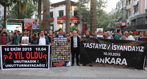 ankara katliaminda olenler denizlide anildi photo 4 - Ankara katliamında ölenler, Denizli'de anıldı