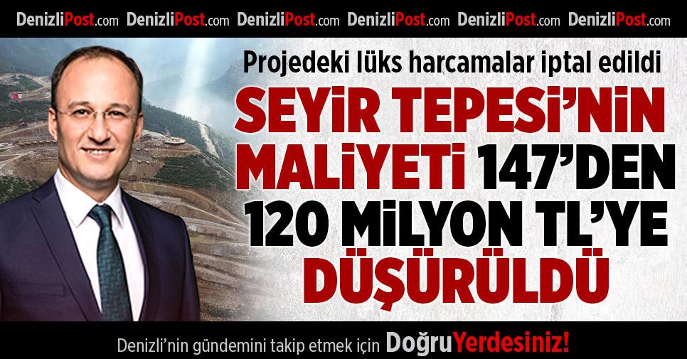 Seyir Tepesi'nin Maliyeti 147'den 120 Milyon Liraya Düşürüldü