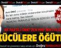 AK Partili Örki'den ülkücülere öğütler