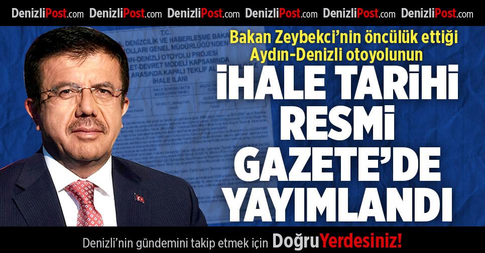 Aydın-Denizli Otoyolu İhale Tarihi Resmi Gazete'de Yayımlandı