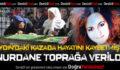 Aydın'daki kazada hayatını kaybeden Nurdane toprağa verildi