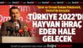 Tarım ve Orman Bakanı Pakdemirli: Türkiye 2022'de Hayvan İhraç Eder Hale Gelecek