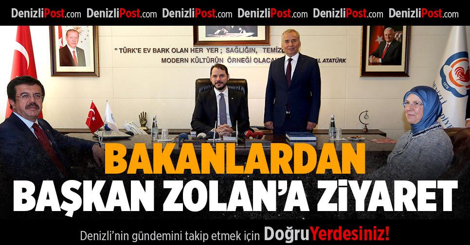 Bakanlardan Başkan Zolan'a ziyaret