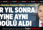 Başkan Gülbay Bir Yıl Sonra Yine Aynı Ödülü Aldı