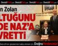 Başkan Zolan, koltuğunu devretti
