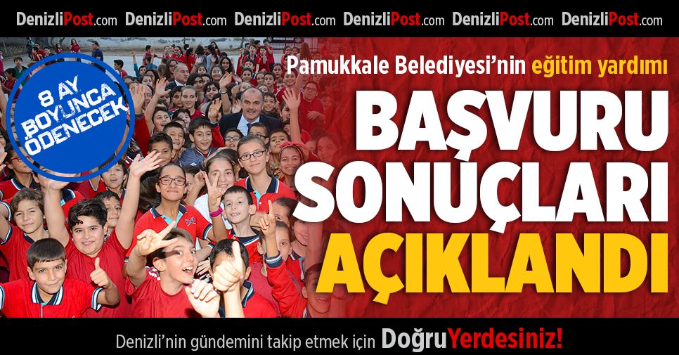 Pamukkale Belediyesi'nin Eğitim Yardımı