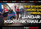 Baz İstasyonu Aküsü Çalan Hırsızlar Jandarmadan Kaçamadı