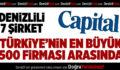 Denizlili 7 Şirket Türkiye'nin En Büyük 500 Firması Arasında