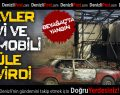 Beyağaç'ta Ev ve Otomobil Çıkan Yangında Kül Oldu
