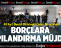 """AK Parti Denizli Milletvekili Şahin Tin açıkladı; """"BORÇLARA YAPILANDIRMA MÜJDESİ"""""""