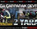 Bozkurt'ta Kaza: 2 Yaralı