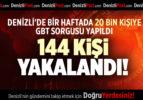 DENİZLİ'DE BİR HAFTADA 20 BİN KİŞİYE GBT SORGUSU