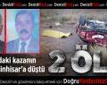 Burdur'daki kazanın acısı Serinhisar'a düştü