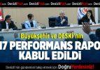 Büyükşehir ve DESKİ'nin 2017 Performans Raporu Kabul Edildi