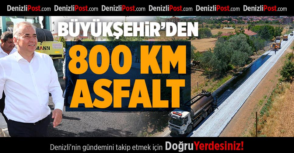 Büyükşehir'den 800 Km Asfalt