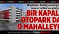 Büyükşehir'den Bir Otopark Projesi Daha