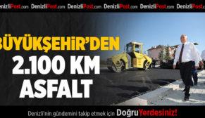 BÜYÜKŞEHİR'DEN 2.100 KM ASFALT