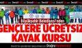 Büyükşehir'den Gençlere Ücretsiz Kayak Kursu