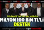 Büyükşehir'den 107 Spor Kulübüne 1 Milyon 100 Bin TL'lik Destek