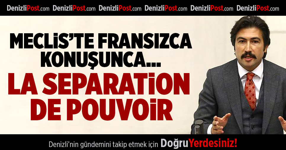 AKP'li Özkan, Meclis'te Fransızca Konuştu, CHP'lilerden Tepki Aldı