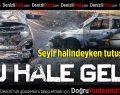 Çal Akkent'te araç yangını