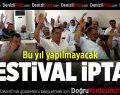 Çal'da Bağbozumu Festivali iptal edildi