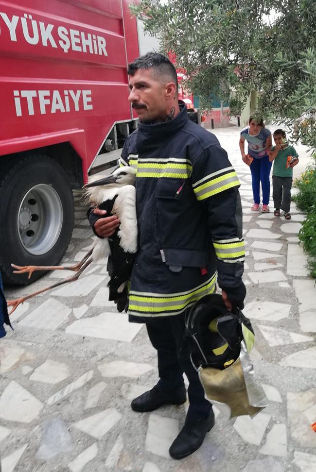 cami kubbesinde sikisan leylegiitfaiye kurtardi 4005 dhaphoto2 - Yağmur Oluğuna Sıkıştı, Yardımına İtfaiye Koştu