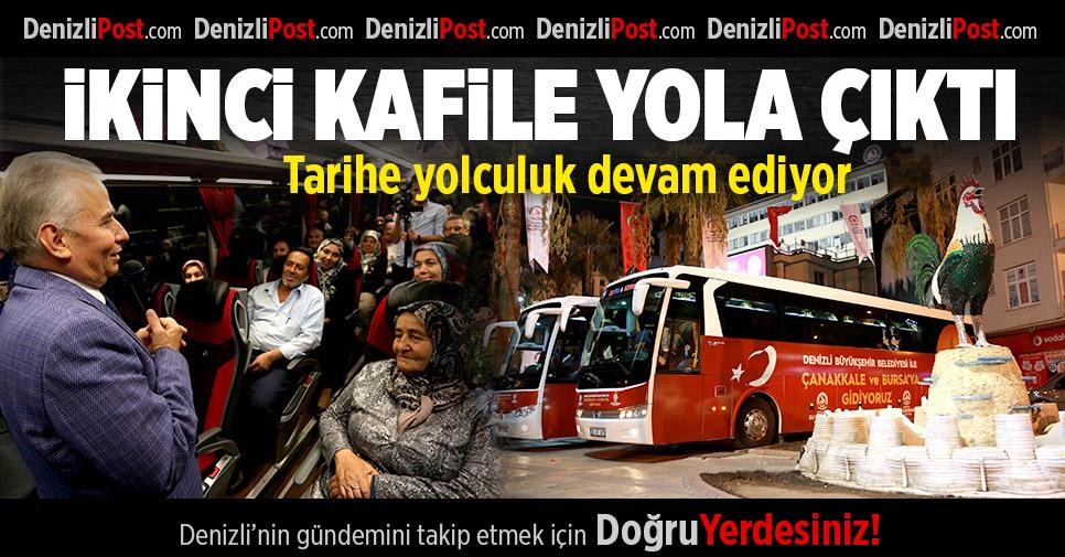 Bursa ve Çanakkale'ye ikinci kafile uğurlandı