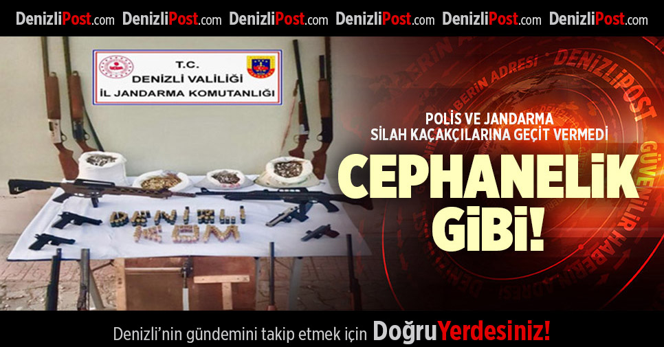 POLİS VE JANDARMA SİLAH KAÇAKÇILARINA GEÇİT VERMEDİ