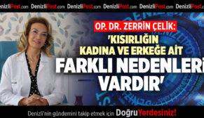 OP. DR. ZERRİN ÇELİK: 'KISIRLIĞIN KADINA VE ERKEĞE AİT FARKLI NEDENLERİ VARDIR'