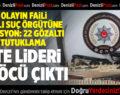 31 Olayın Faili Suç Örgütüne Operasyon: 22 Gözaltı 13 Tutuklama