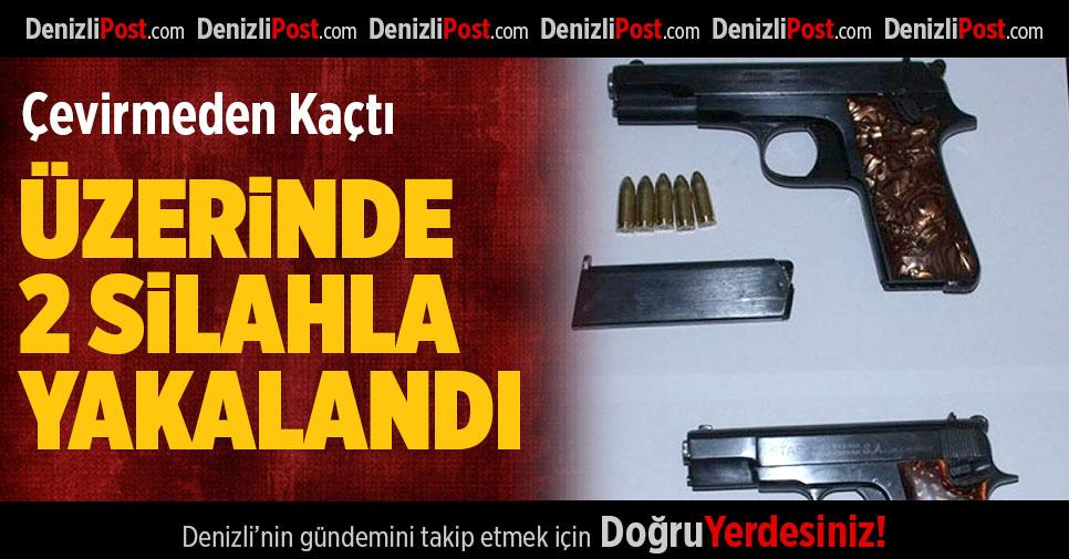 Üzerinde 2 Silahla Yakalandı