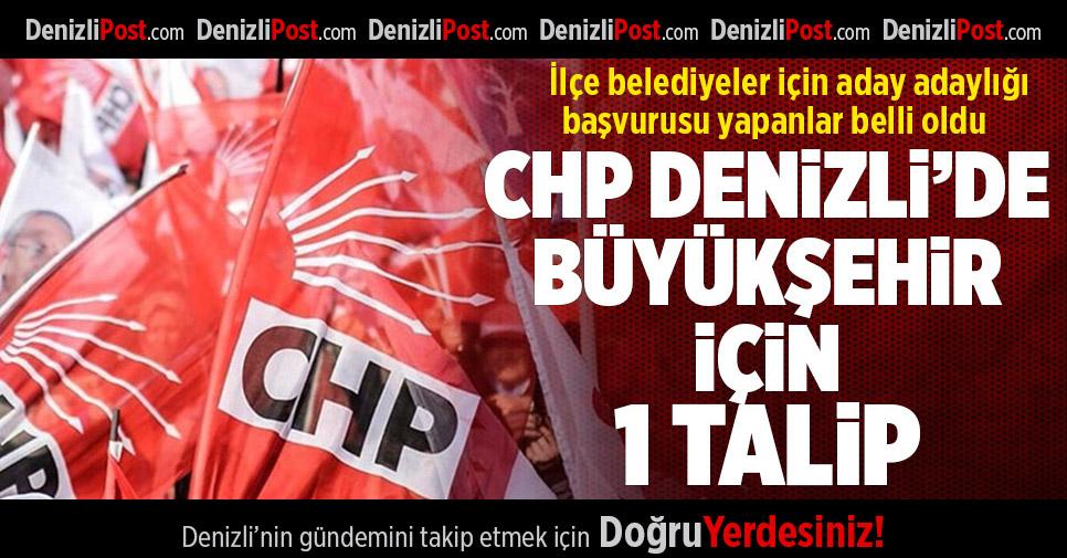 CHP Denizli'de Büyükşehir için 1 talip