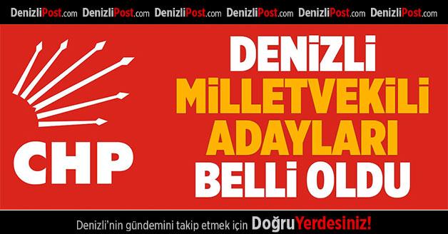 CHP'nin 24 Haziran'daki milletvekili adayları