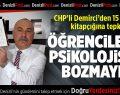 CHP'li Demirci'den 15 Temmuz kitapçığına tepki