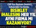CHP İlçe Başkanı Demirci'den Subaşıoğlu'na Bisiklet İhalesi Sorusu