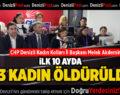 CHP Denizli Kadın Kolları İl Başkanı Melek Akdemir: 2019'un ilk on ayında 383 Kadın öldürüldü