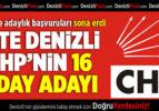 Denizli CHP'den milletvekilliği aday adaylığı için 16 başvuru