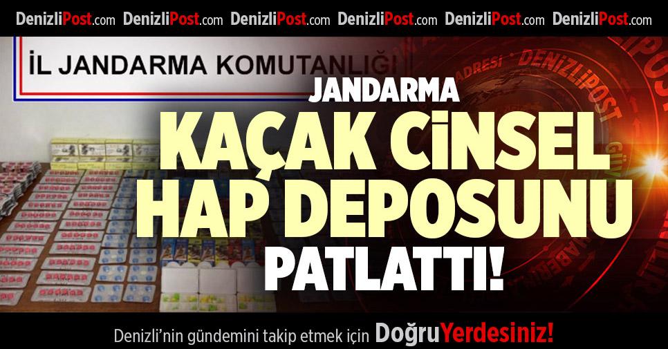 JANDARMA KAÇAK CİNSEL HAP DEPOSUNU PATLATTI!