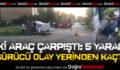 Çivril'de Kaza: 5 Yaralı