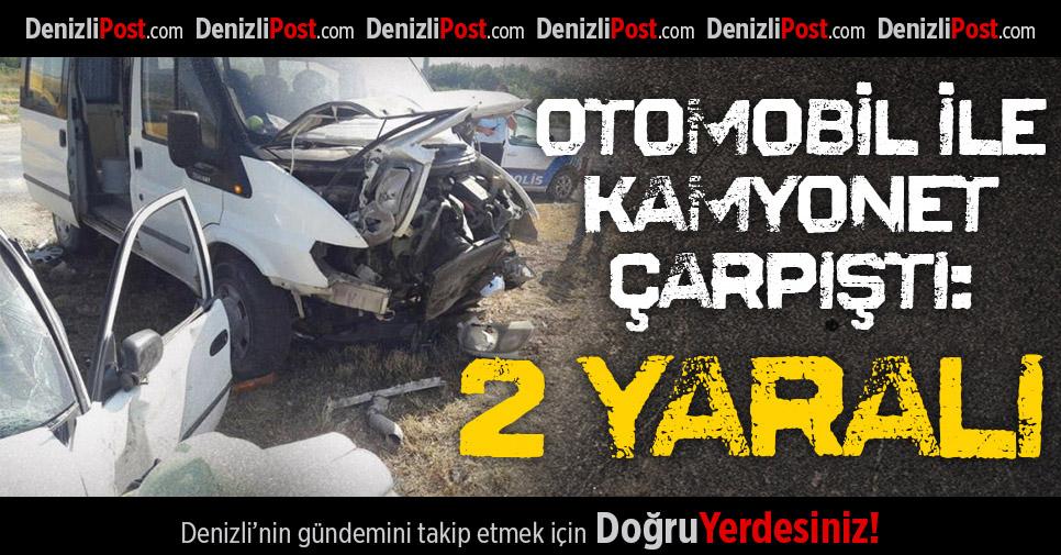 Çivril'de Kaza: 2 Yaralı