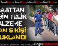 İnşaattan 50 Bin TL'lik Malzeme Çalan 5 Kişi Tutuklandı