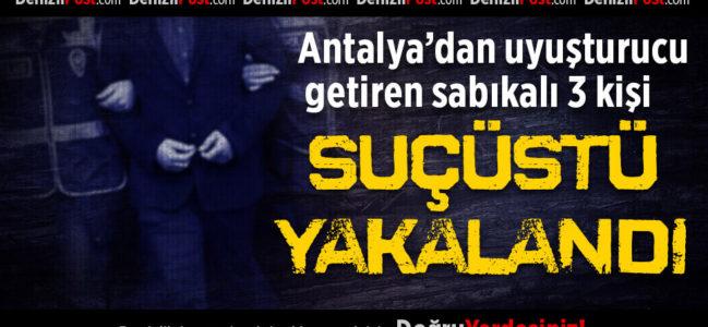 Antalya'dan Uyuşturucu Getiren 3 Kişi Suçüstü Yakalandı