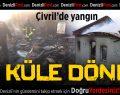 Çivril'de Yangın Bir Evi Küle Çevirdi
