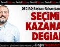DEGİAD Başkanı Urhan'dan teşekkür