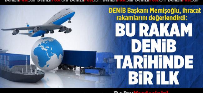 DENİB Başkanı Memişoğlu, İhracat Rakamlarını Açıkladı
