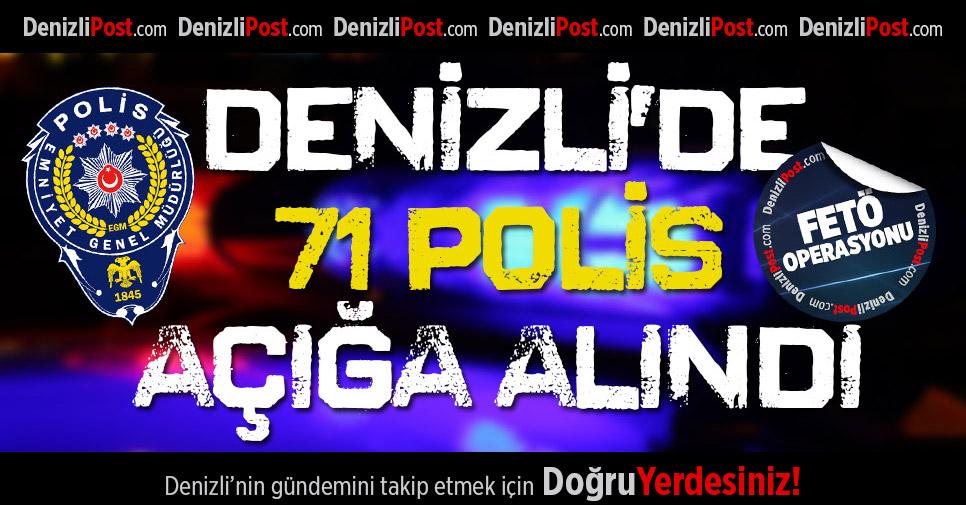 Denizli'de 71 polis açığa alındı