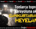 Denizli- Antalya karayolunda heyelan