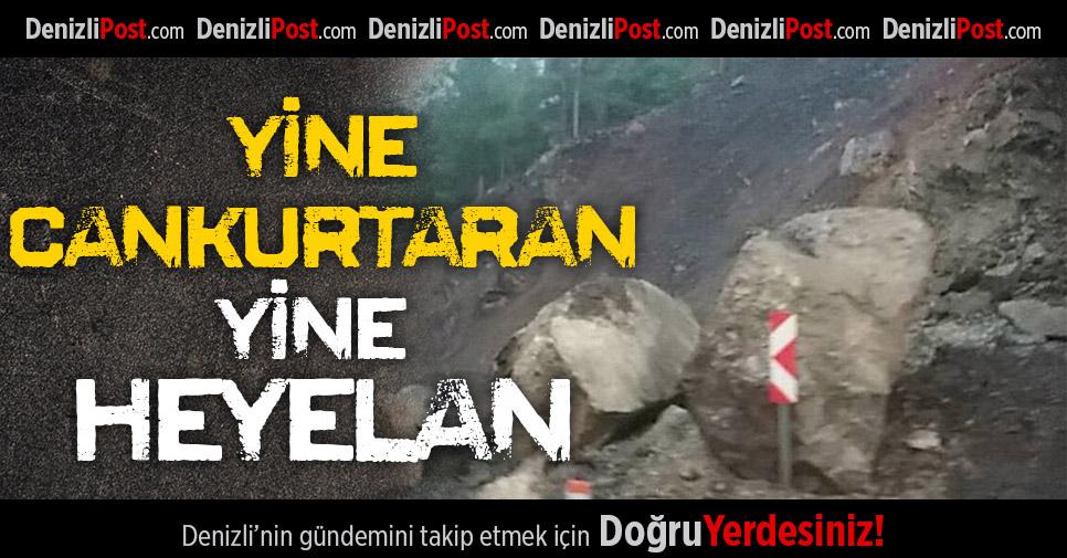 Denizli-Antalya karayolunda heyelan