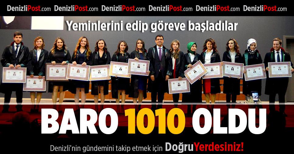 Denizli Barosu'nda avukat sayısı 1010'a çıktı